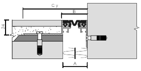 Монтаж углового профиля для деформационного шва